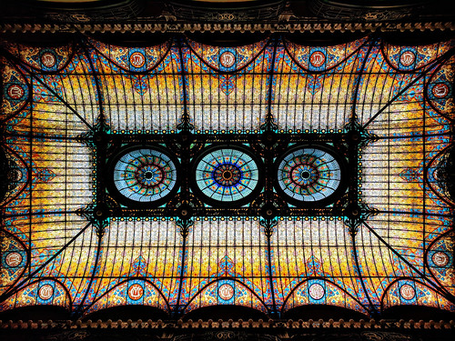 Tiffany stained-glass ceiling, lobby, Gran Hotel Ciudad de México | by Second-Half Travels