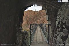 Tunnel through Xg1 and Xv1 at entrance to S. Kaibab Trail Bridge