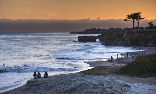 ocean california blue sunset orange santacruz reflection beach water outdoors raw day cloudy pacificocean hdr waterreflection photomatix fav200 1xp nex6 selp1650