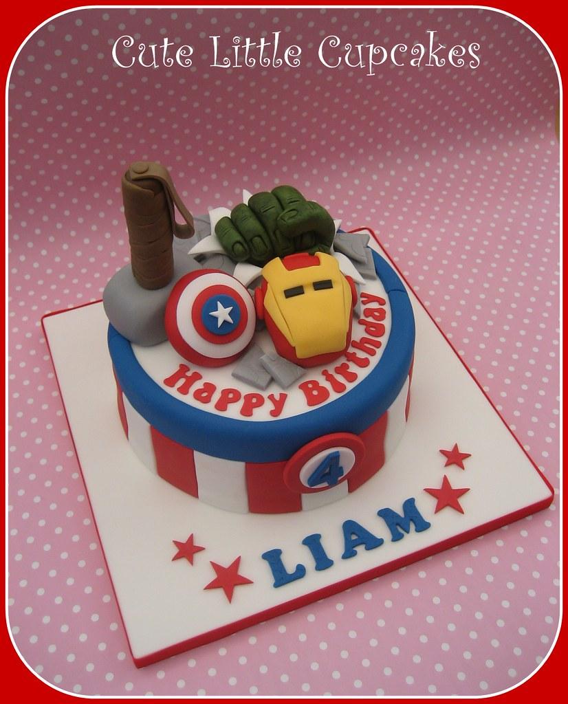 Awesome Avengers Birthday Cake Heidi Stone Flickr Funny Birthday Cards Online Drosicarndamsfinfo