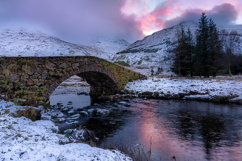 butterbridge glenkinglas arrochar scotland nikond7200 tokina1116mm bridge sunrise river