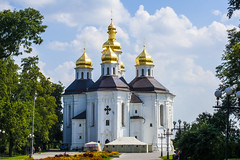 The Catherine's church is an example of Cossack baroque. Chernigiv.