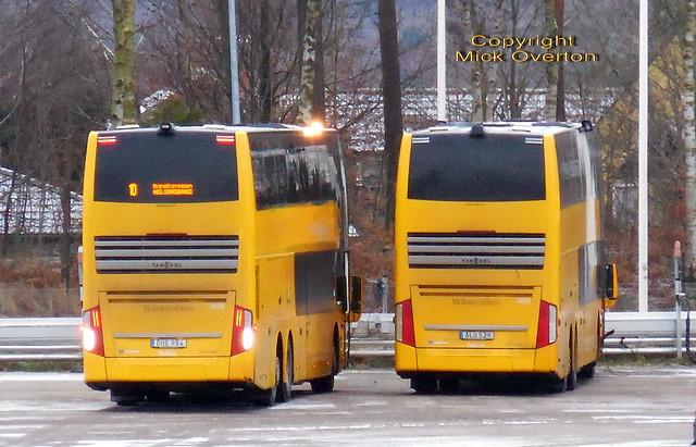Scania Van Hool Astromega Nobina 3025 + 3023 Skåne route 10 Örkelljunga outstation