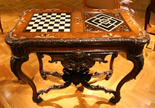 Rare gaming table with chessboard | by qyiq23607pisano