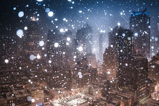 Times Square in Snow | by RBudhu