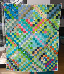 Scrappy quilt completed - 1
