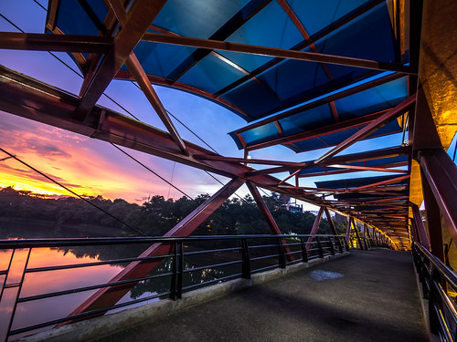 Sunset over bridge | by Henry Sudarman