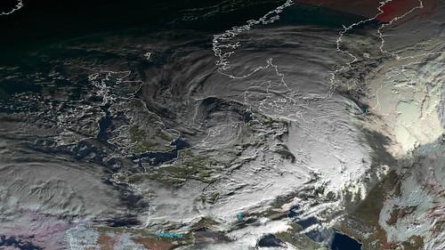 Storm Eleanor | by EUMETSAT