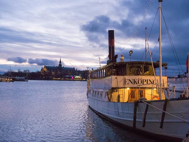 Nybrokajen sunrise Stockholm Sweden