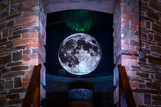 Moon projection in Observatory | by Penllergare