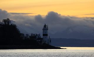 Cloch lighthouse .
