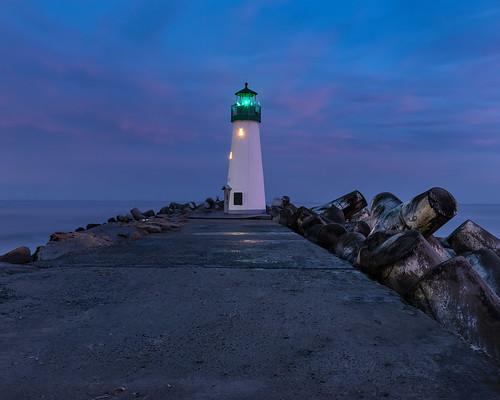 california californiacoast lighthouse waltonlighthouse santacruz sanfrancisco pch pacificcoasthighway pacificocean sh1 winter bluehour sunset montereybay nikon d800e