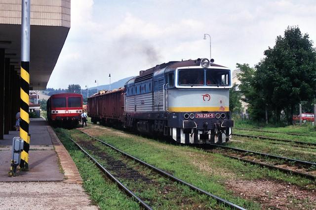 ŽSCS 750 254-5 te Bardejov op 3-8-2005 (SCAN)