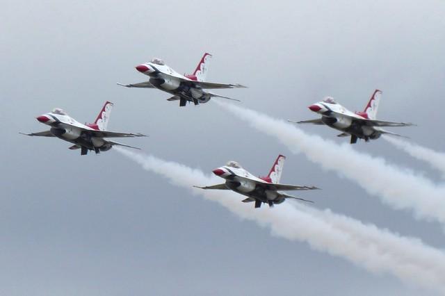 USAF Thunderbirds RIAT Fairford 16 July 2017