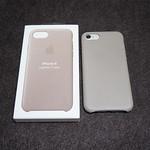 iPhone 8/7 レザーケース トープ ケースはとりあえず純正、色はトープにしました。 #iphone #iphonecase #iphoneleathercase #taupe #レザーケース