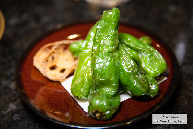 Fried shisto peppers