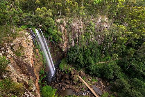 australia bush cliff darlingdowns killarney mainrangenationalpark nature qld queenmaryfalls queensland rocks springcreek trees waterfall