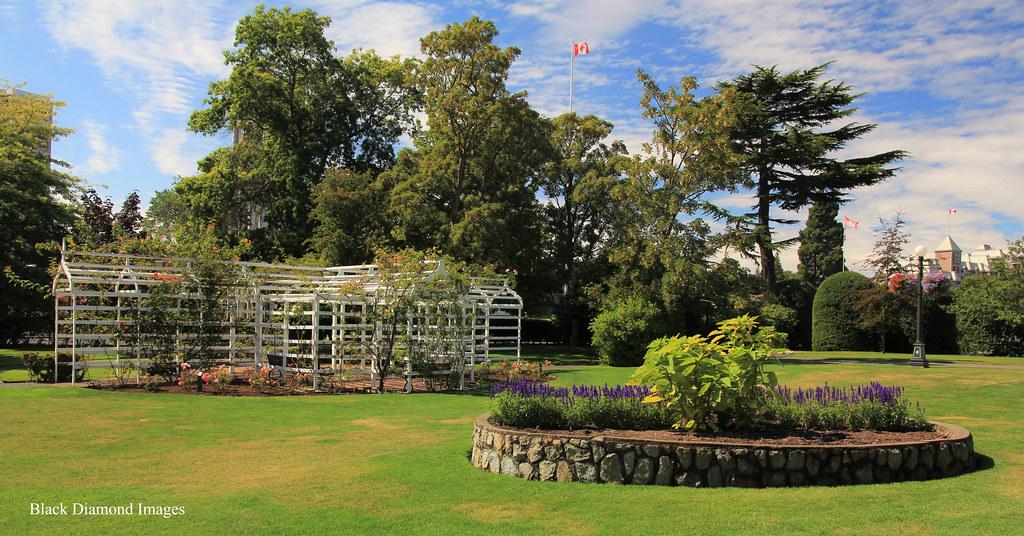 Climbing Rose Arbor Raised Garden At Fairmont Empress Ho Flickr