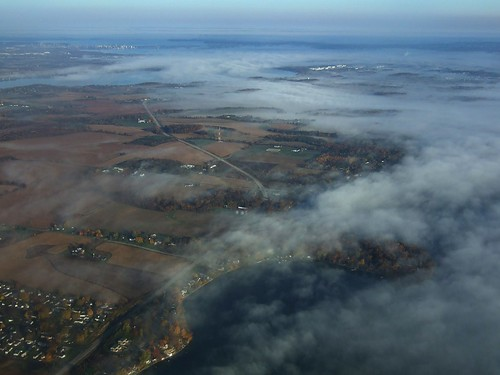 lake kegonsa waubesa monona mendota danecounty madison city isthmus wisconsin autumn fall colors aerial airplane msn capitol