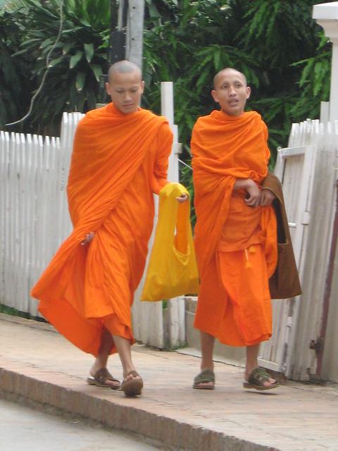 Buddhist monks (Luang Prabang, Laos)