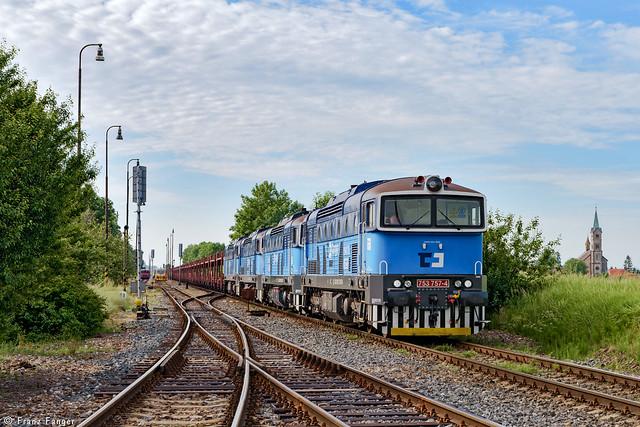 ČD Cargo 753 757, 758, 762 und 778, Veleliby, 06.06.2017