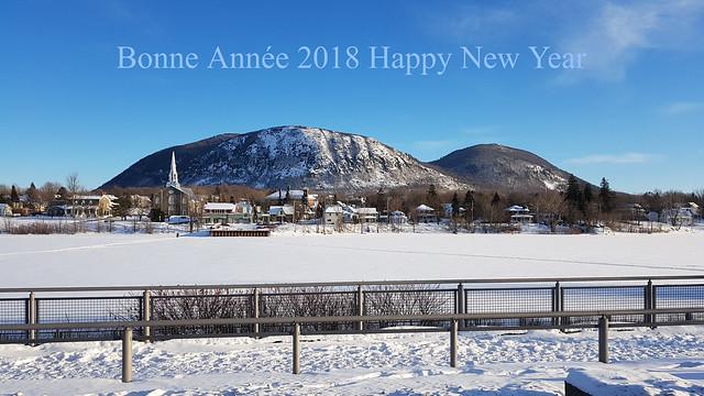 Une Vue Sur Le Mont Saint-Hilaire et la Rivière Richelieu. 2018 01 01 14:56.08