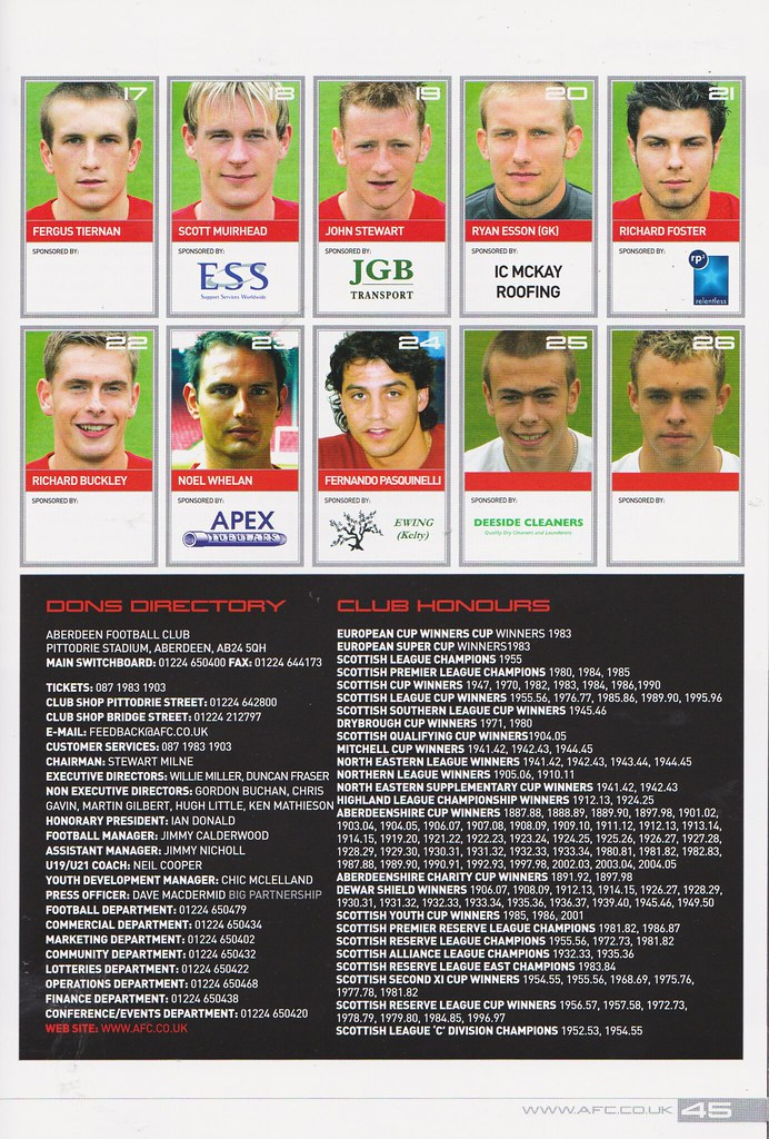 Aberdeen vs Heart Of Midlothian - 2004 - Page 45 | Miles McClagan
