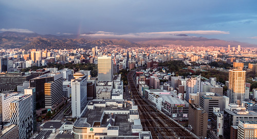 building light eos urban landscape sunrise rainbow nature ef24105mm 6d city cityscape canon fall japan hokkaido sapporoshi hokkaidō jp