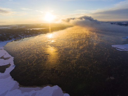friday tgif lake sunrise beautiful steam mist fog foggy morning arctic cold frozen skaneateles flx fingerlakes nature landscape ice cny upstatenewyork drone dronephotography drones dji djiphantom4 phantom4 2017 letsendthisyear