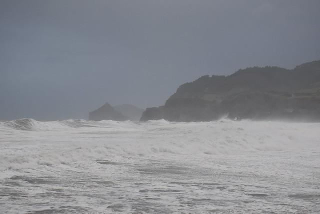 Bruno con viento y agua