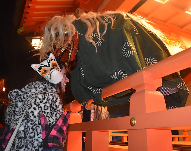 Japanese Lion bites Foxy Foreigner for New Years Luck