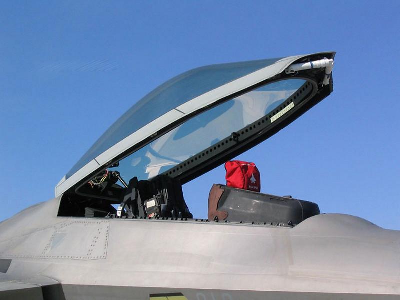 A Lockheed F-22 Raptor 4