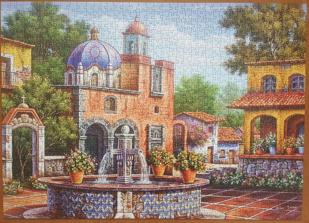 Patio with a Fountain by Arturo Zarraga [Jigsaw]