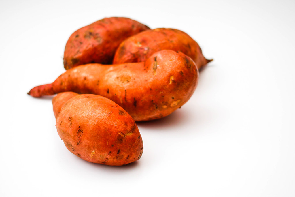Sweet Potatoes on a White Background | ✅ Marco Verch is a Pr ...