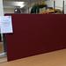 Wine fabric floor standing screen 1630l 1800h E100