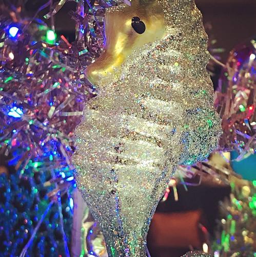 sea seahorse ornament christmas christmastree lasirena holiday blue ocean lubbock