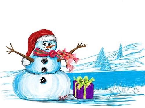 FlowPaper Snowman