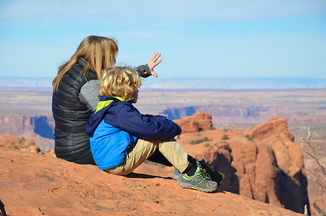 Everett & Mommy At The First Overlook On The Upheaval Dome Trail