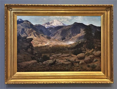 manitouspringswithpikespeakinthedistance thaddeuswelch welch crockerartmuseum crocker artmuseum sacramento downtownsacramento downtown california ca unitedstates usa america art painting landscapepainting colorado co manitousprings pikespeak