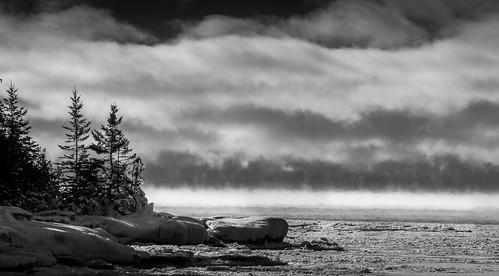 canon7d manitoulinisland winter landscape brucegates blackwhite providencebay lakehuron moody cold