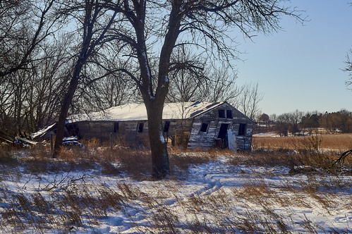 rural winter ruins grass outdoors landscape snow foliage farm trees sky day nature industar502f3550mm siouxfalls sd unitedstates usa индустар502