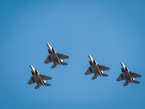 Pre-game F-15 formation flyover | by Ed Rosack
