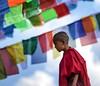 Boudhanath Stupa young monk
