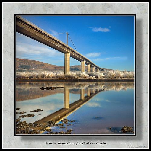 winter canonflickraward bridge erskine renfrewshire river clyde reflection water calm shore canon760d crossing