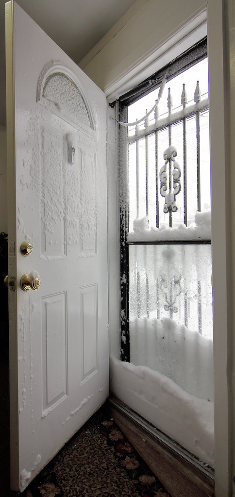 Snow Blocking My Front Door | Canon 60D And Canon 10 18mm ST ...