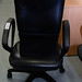 Swivel with arms leatherette E20