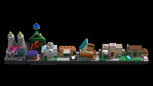 LEGO Springfield Skyline 01   by MOMAtteo79