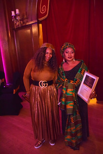 DSC_6966 Black British Entertainment Awards BBE Dec 2017 at Porchester Hall London by Jean Gasho Co Founder of BBE with Nicole from Philadelphia and Maria Lovell CEO of The Ghana Society UK and Miss Tourism Ghana UK