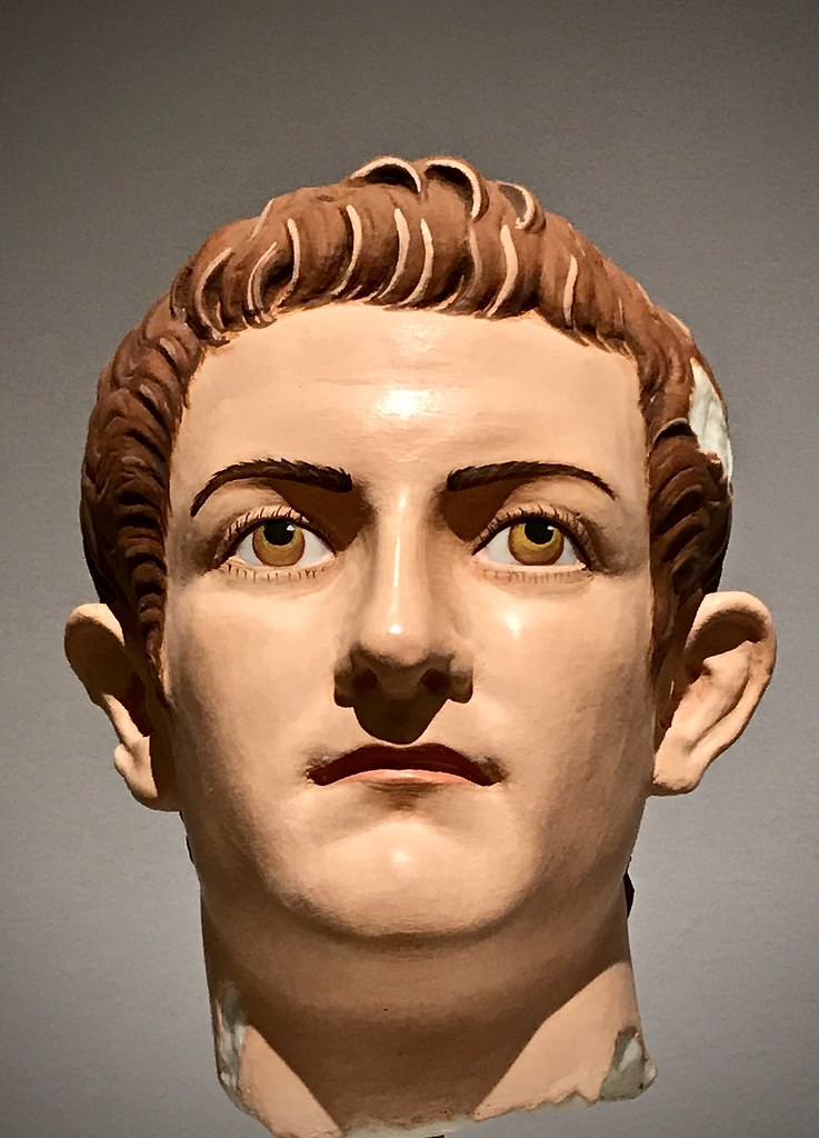 The young Caligula in polychrome
