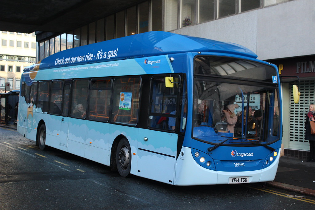 Stagecoach: 28040 YP14TGO Scania K270UB/Alexander Dennis Enviro 300NG